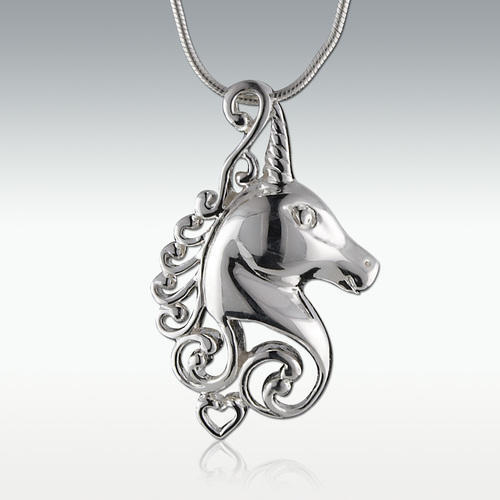 Unicorn Sterling Silver Cremation Jewelry