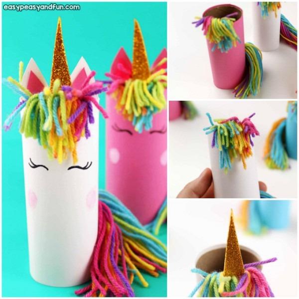 Unicorn Toilet Paper Roll Craft