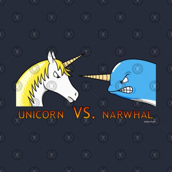 Unicorn Vs  Narwhal