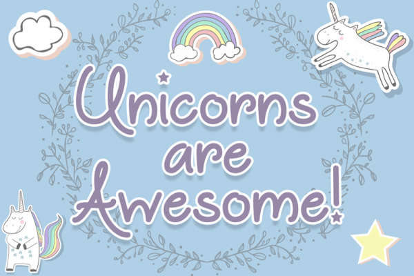 Unicorns Are Awesome Font