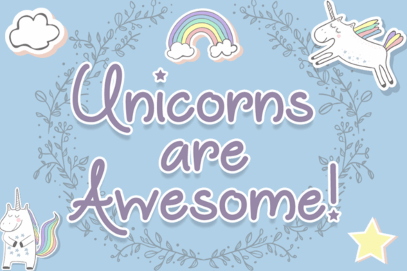 Unicorns Are Awesome Font Free Download