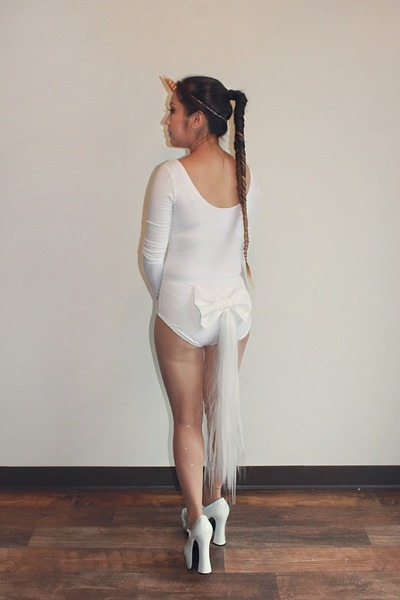 White Step N Stretch Bodysuits, Unicorn Horn Diy Accessories, Diy