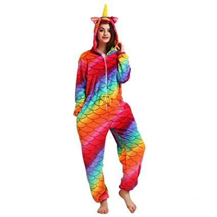 Womens Rainbow Unicorn Onesie
