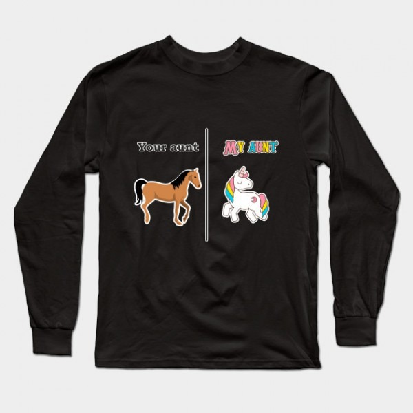 Your Aunt My Aunt Tee Shirt Unicorn Funny Design Art Gift For Aunt