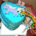 Unicorn Pooping Rainbow Cake