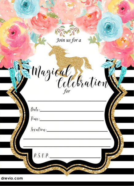 17 Editable Free Unicorn Invitation Download With Venngage