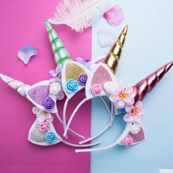 2019 Creative Unicorn Horn Headbands Girls Magical Party Cosplay