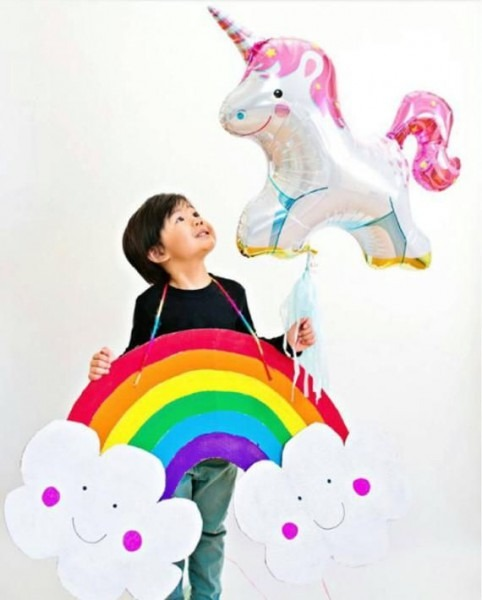 36 Unicorn Balloon Birthday Decoration Photo Prop