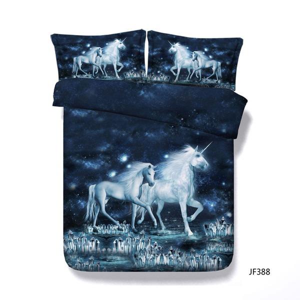 3d Unicorn Bedding Duvet Cover Set 1 Comforter Cover 2 Pillow
