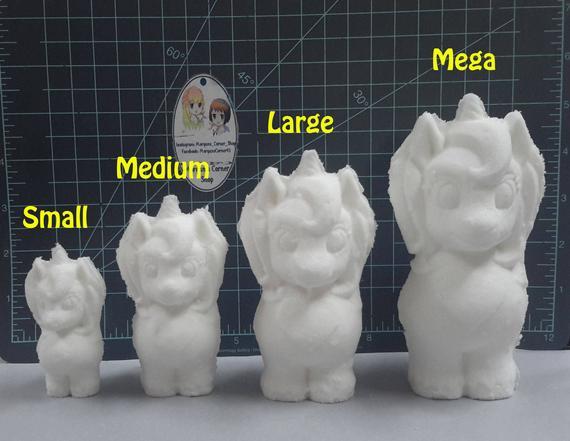 3d Unicorn Plastic Mold 2 Part Mold Bath Bomb Mold Soap