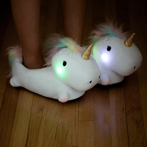 Adult Unicorn Light Up Slippers Are Now A Thing