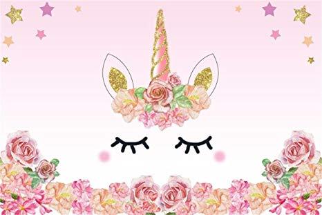 Amazon Com   Aofoto 6x4ft Cartoon Unicorn Background Birthday