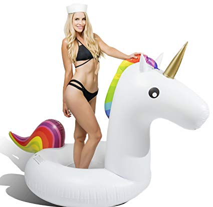 Amazon Com  Captain Floaty Giant Inflatable Unicorn Pool Float