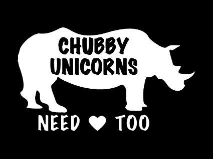 Amazon Com  Cci Chubby Unicorns Need Love Too Funny Rhino Decal
