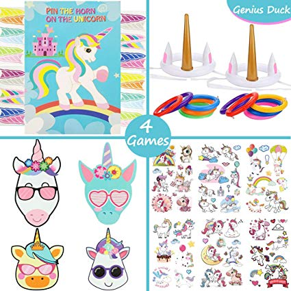 Amazon Com  Genius Duck Unicorn Party Games Set