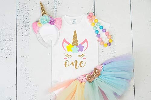 Amazon Com  Girliesgalore Girls Unicorn Birthday Outfit, Baby Girl
