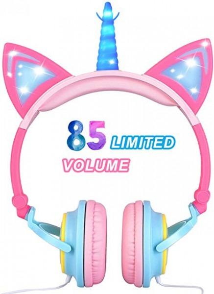 Amazon Com  Glowing Unicorn Kids Headphones For Girls Boys Toddler