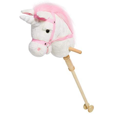 Amazon Com  Hollyhome Horse Stick Plush Unicorn Hobby Horse With