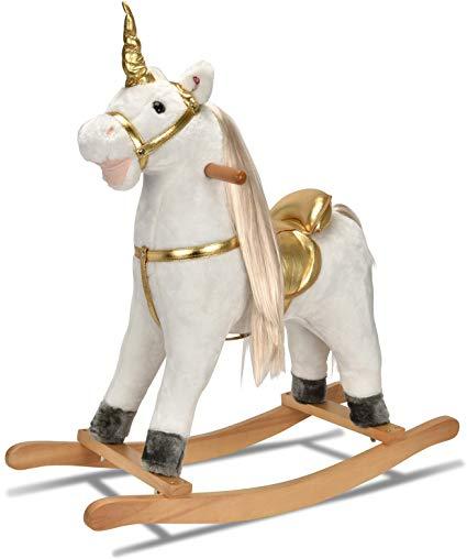 Amazon Com  Joon Unicorn Rocking Horse, Designed With Soft