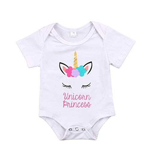 Amazon Com  Lovely Unicorn Baby Girls Clothes Cotton Baby Girls