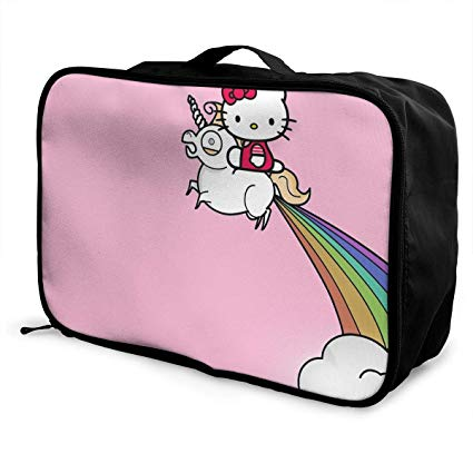 Amazon Com  Meirdre Travel Duffel Bag Hello Kitty With Unicorn
