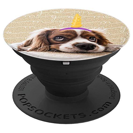 Amazon Com  Puppy Phone Holder Cute Puppy Unicorn Gold Dog Lovers