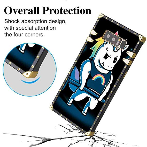 Amazon Com  Samsung Galaxy Note 8 Unicorn Weightlifting Square