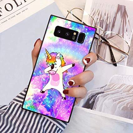 Amazon Com  Square Cute Unicorn Samsung Galaxy Note 8 Case, Jqlove