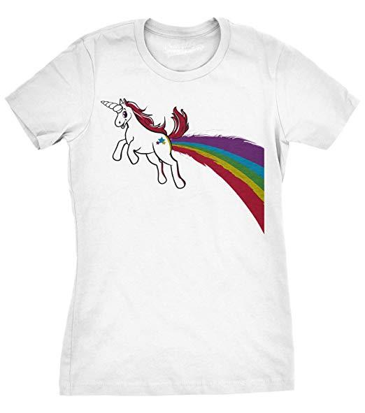 Amazon Com  Womens Funny Unicorn Shirt Farts Cool Rainbow Unicorns