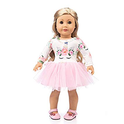 Amazon Com  Yomores Unicorn Dress For 18 Inch American Girl Doll