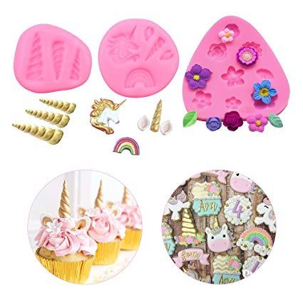 Amazon Com  Youth Union Mini Unicorn Candy Molds,food Grade