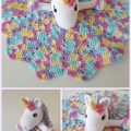Free Crochet Unicorn Blanket