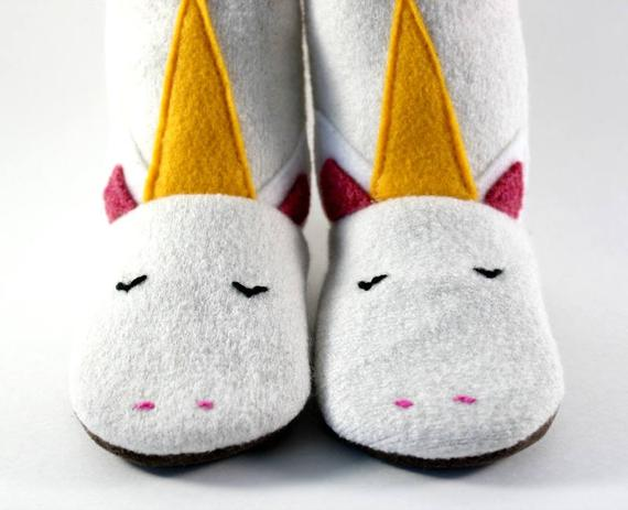 Baby Girl Gift Unicorn Slippers Baby Shoes Size 4