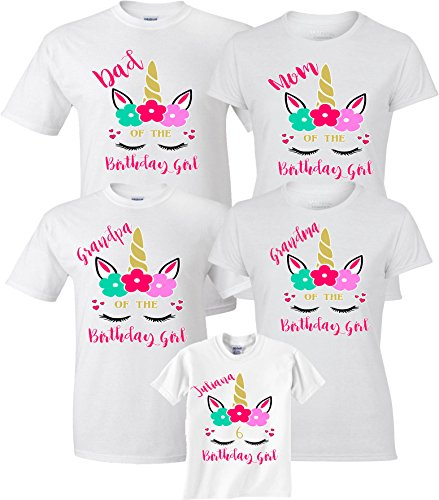 Birthday Girl Unicorn Custom Names Funny Character Birthday Custom