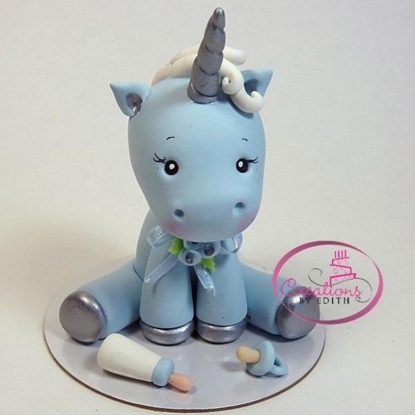 Boy, Unicorn, Blue, Baby, Baby Shower, First Birthday, Favor, Cake