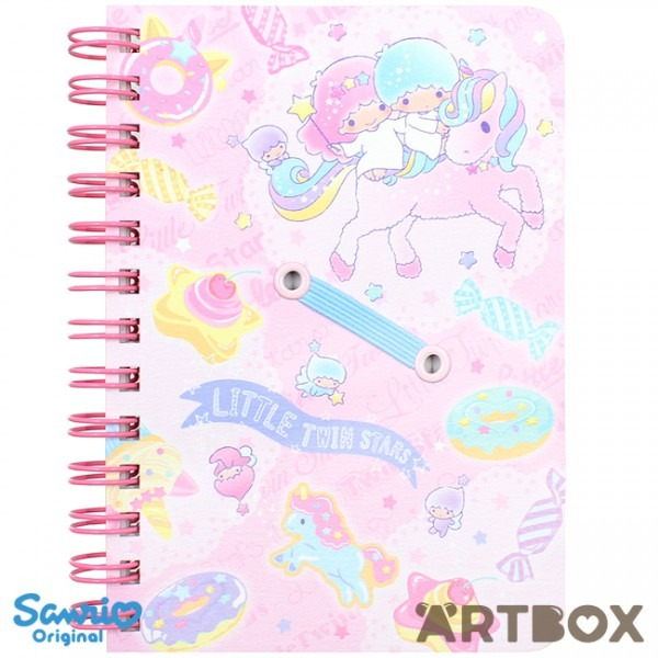 Buy Sanrio Little Twin Stars Unicorn Lined B7 Spiral Notebook At