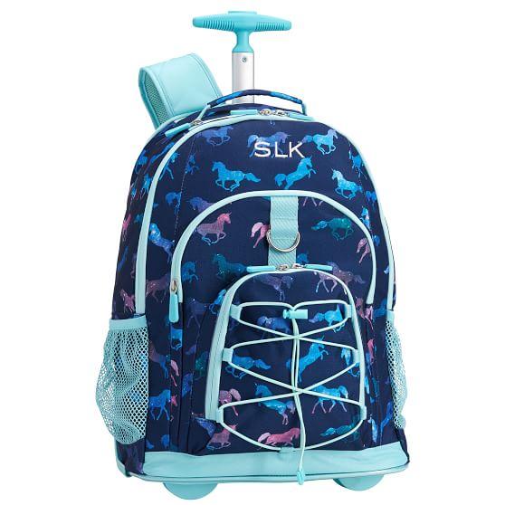 Celestial Unicorn Rolling Backpack For Teens