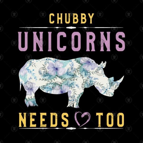 Chubby Unicorns Needs Love Too T Shirt Vintage Rhinos Lovers
