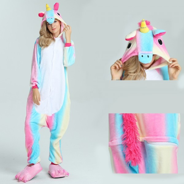 Colorful Unicorn Onesie, Colorful Unicorn Pajamas For Adult Buy Now