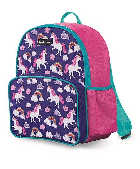 Crocodile Creek Purple & Pink Rainbow Unicorn Backpack