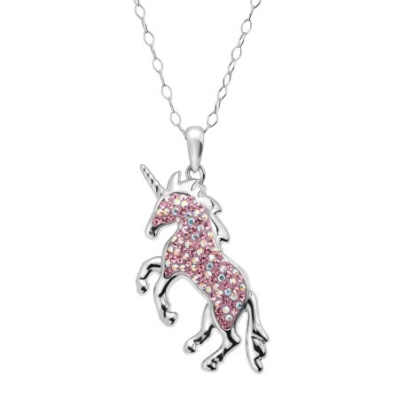 Crystaluxe Magical Unicorn Pendant With Swarovski Crystals In