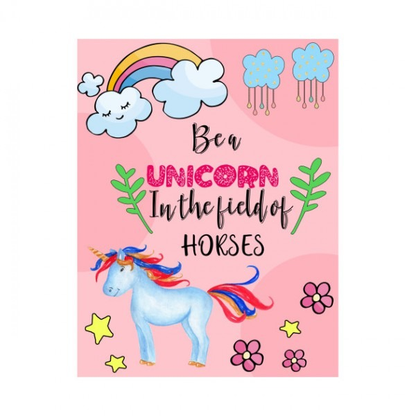 Cute Unicorn Quote Tshirt Notebook Stickers