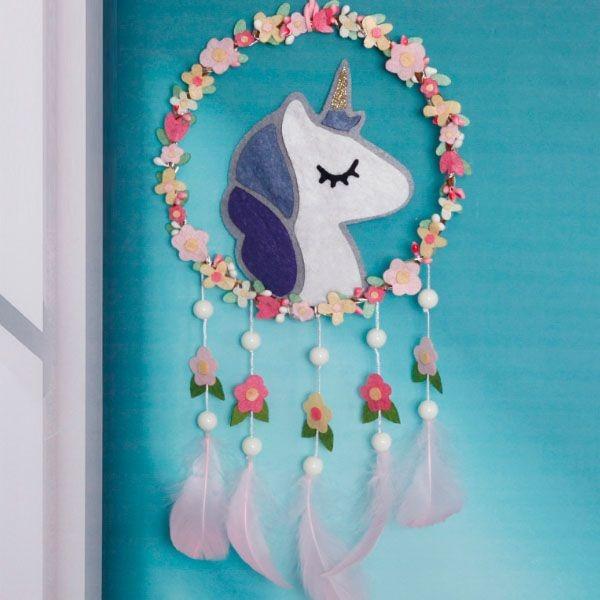 Diy Unicorn Floral Dream Catcher