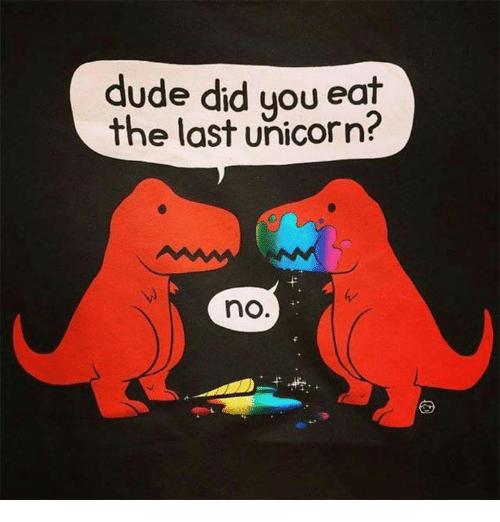 Dude Did You Eat The Last Unicorn  No