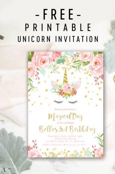 Free Editable Birthday Party Invitation Template