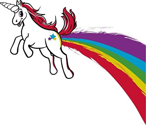 Funny Rainbow Farting Unicorn Tee