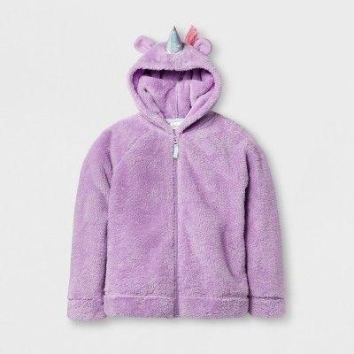 Girls' Cozy Unicorn Hoodie