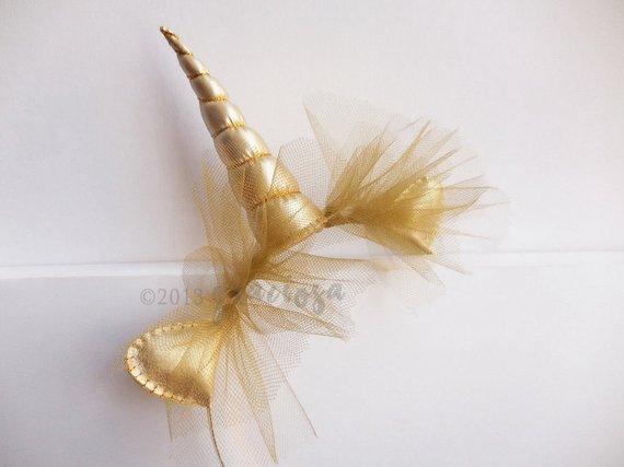 Gold Unicorn Horn Headband