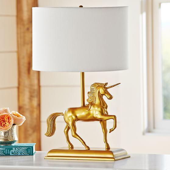 Gold Unicorn Table Lamp