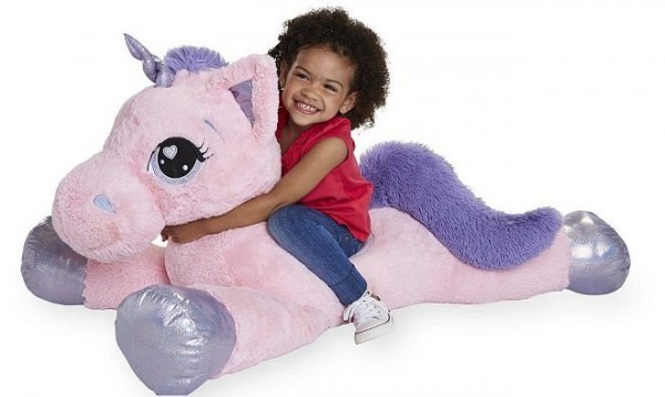 Hot  $29 99 (reg $50) Animal Alley Jumbo Stuffed Unicorn + Free